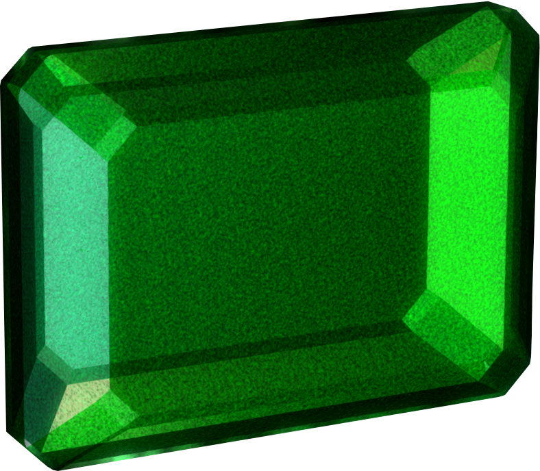 Gem clipart square gem. Flawless emerald elder scrolls