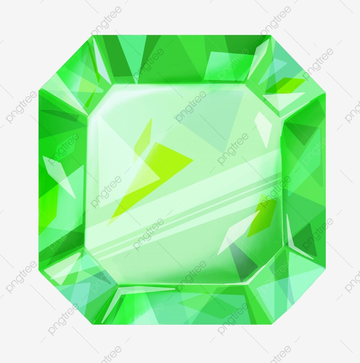 Green gems illustration gemstone. Gem clipart square gem