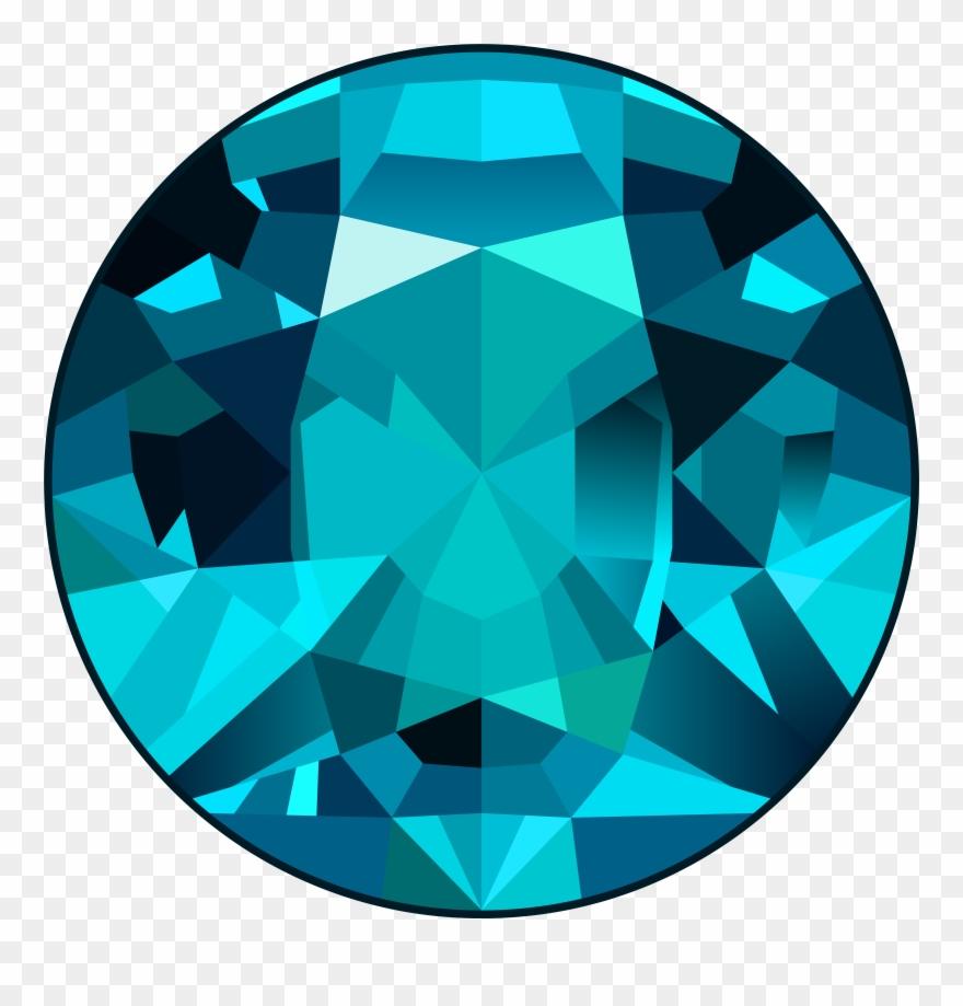 Gem clipart transparent background. View full size blue