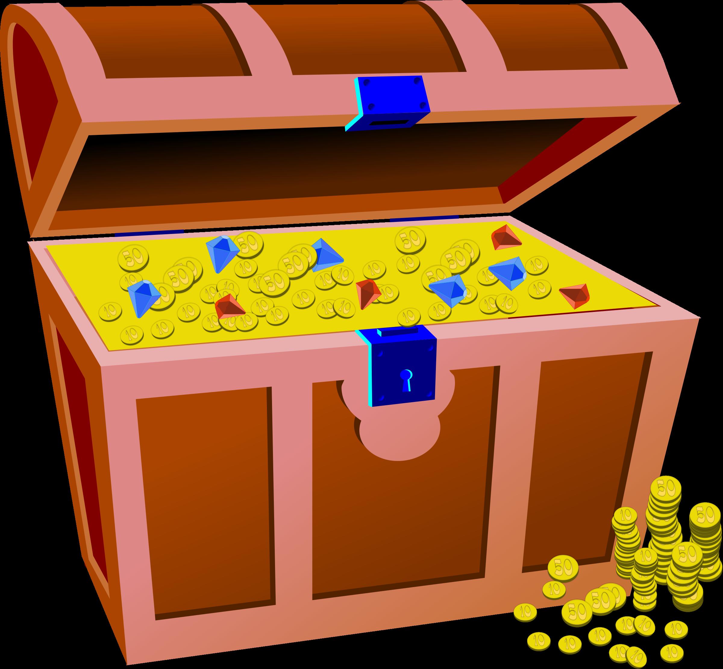 Treasure clipart big. Full chest image png