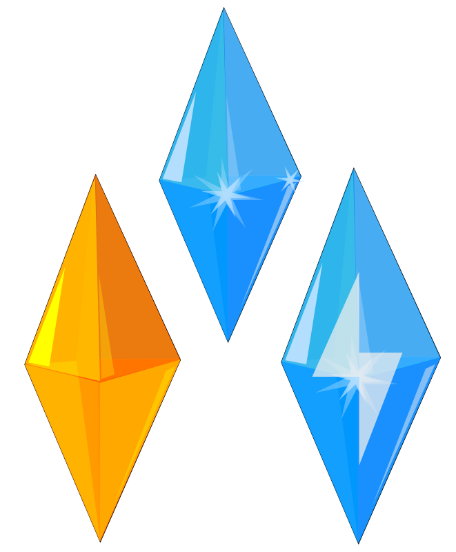 Gem clipart triangle. Crystal gems glittering blue