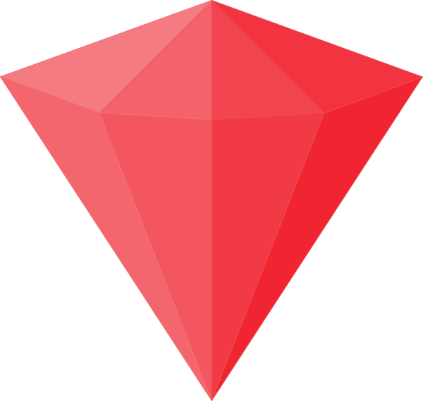 Gem clipart triangle. Ruby clip art at