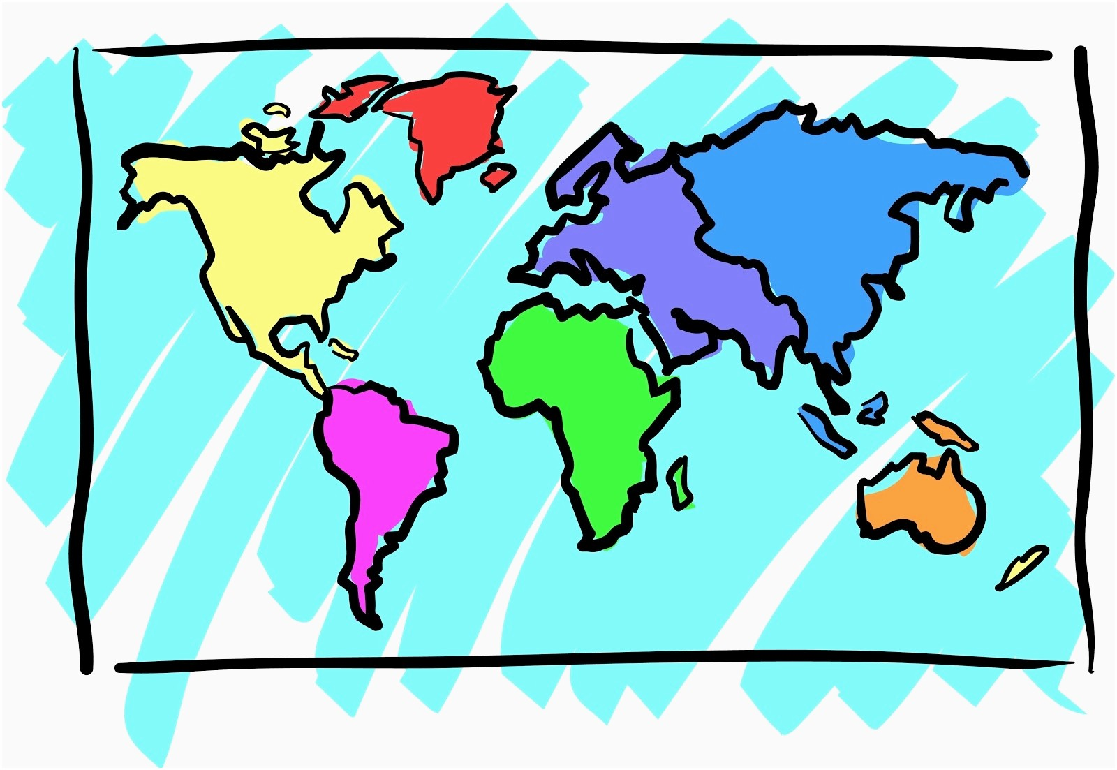 World map luxury clip. Geography clipart