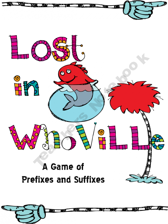 Language clipart affixes. Dr suess lost in