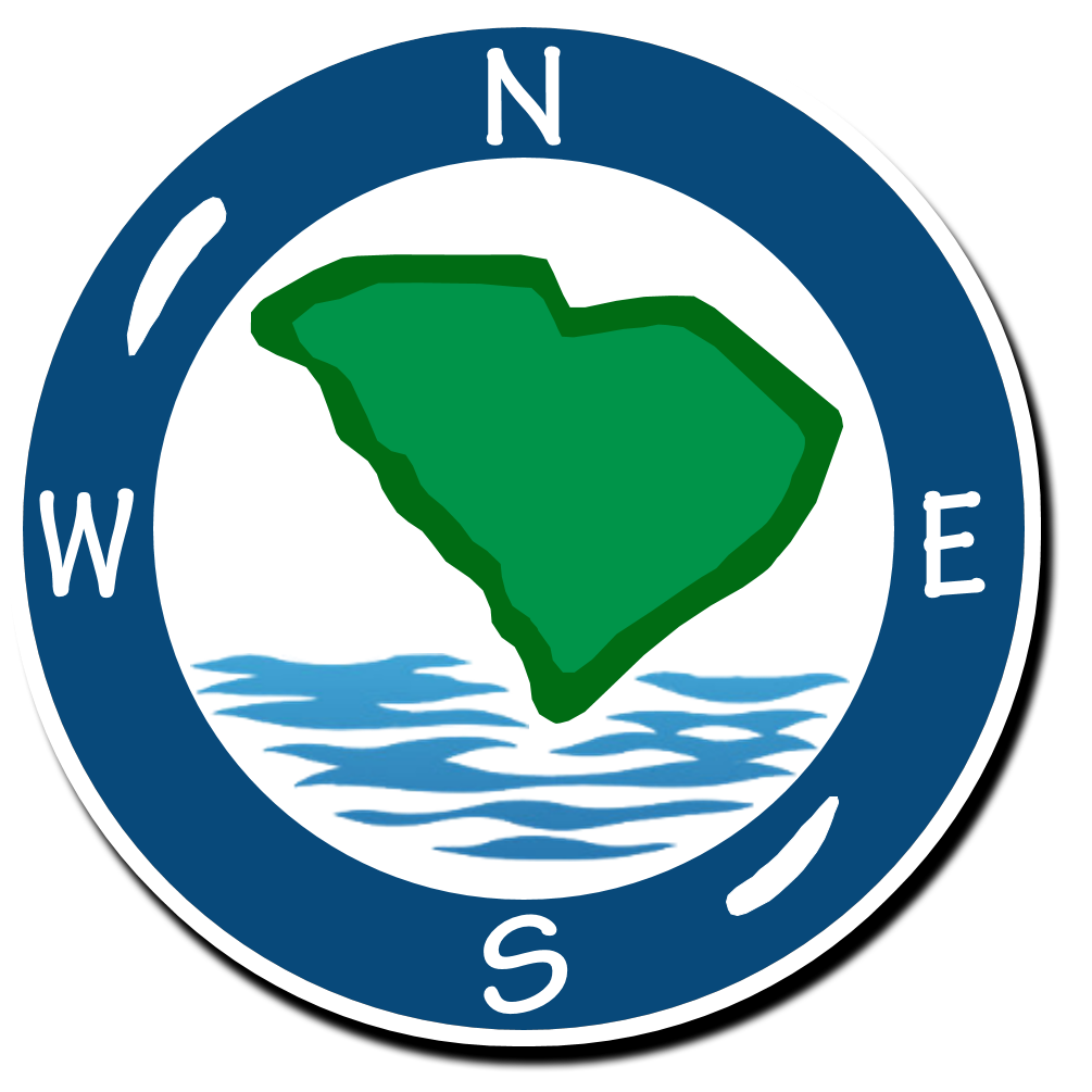 Sc watershed compass. Geography clipart atlas