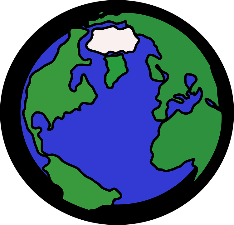 Cartoon planet pictures shop. Planets clipart earth half