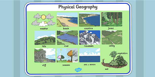 Physical word mat . Geography clipart geographical feature