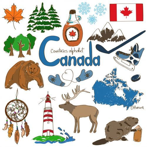 Canada culture map printable. Geography clipart geography canadian
