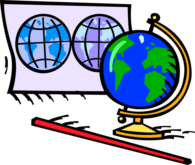 Geography clipart geography class. World map and globe