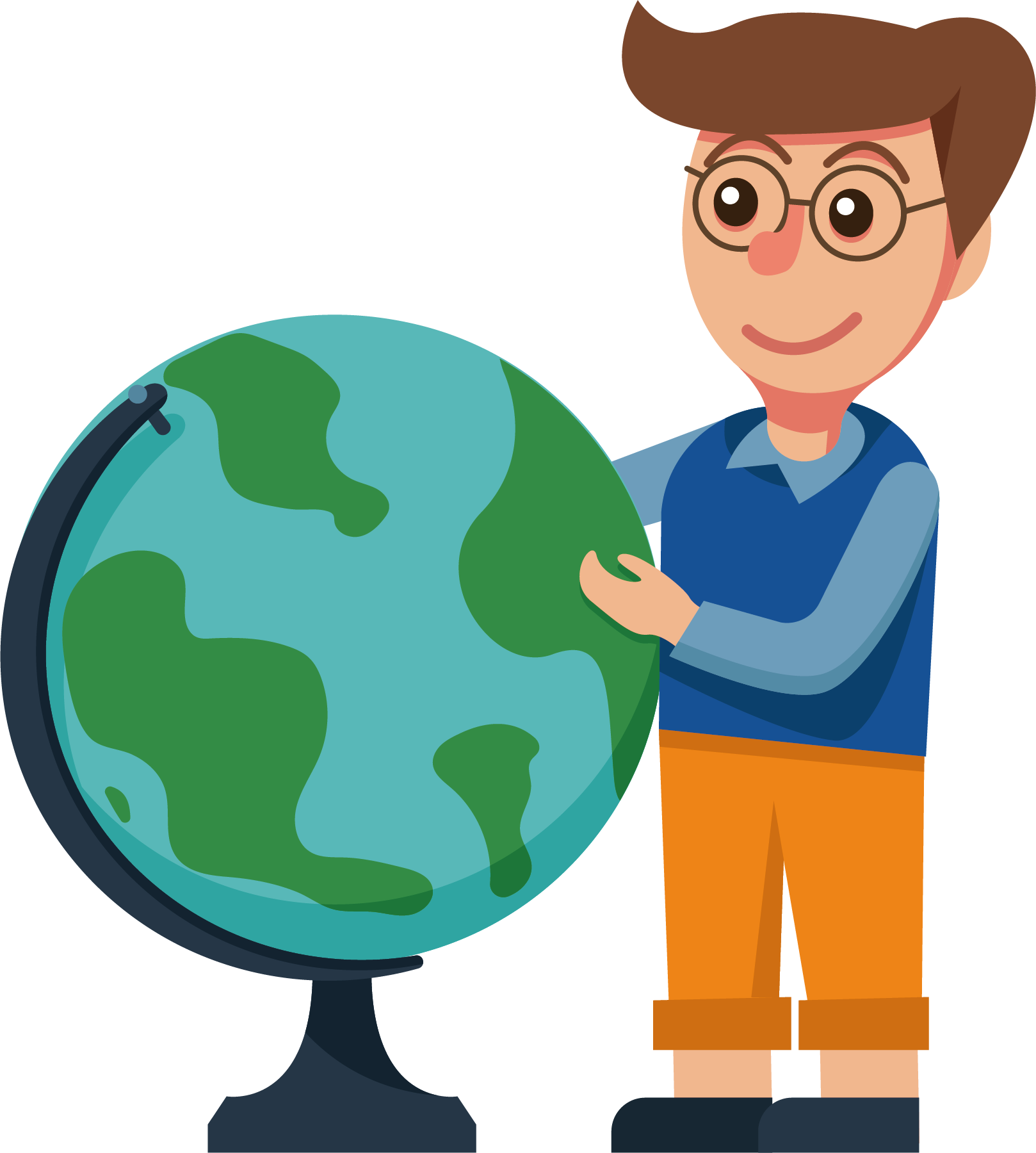 Teacher cartoon globe transprent. Geography clipart geography class
