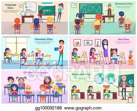 Eps vector children in. Geography clipart language art teacher