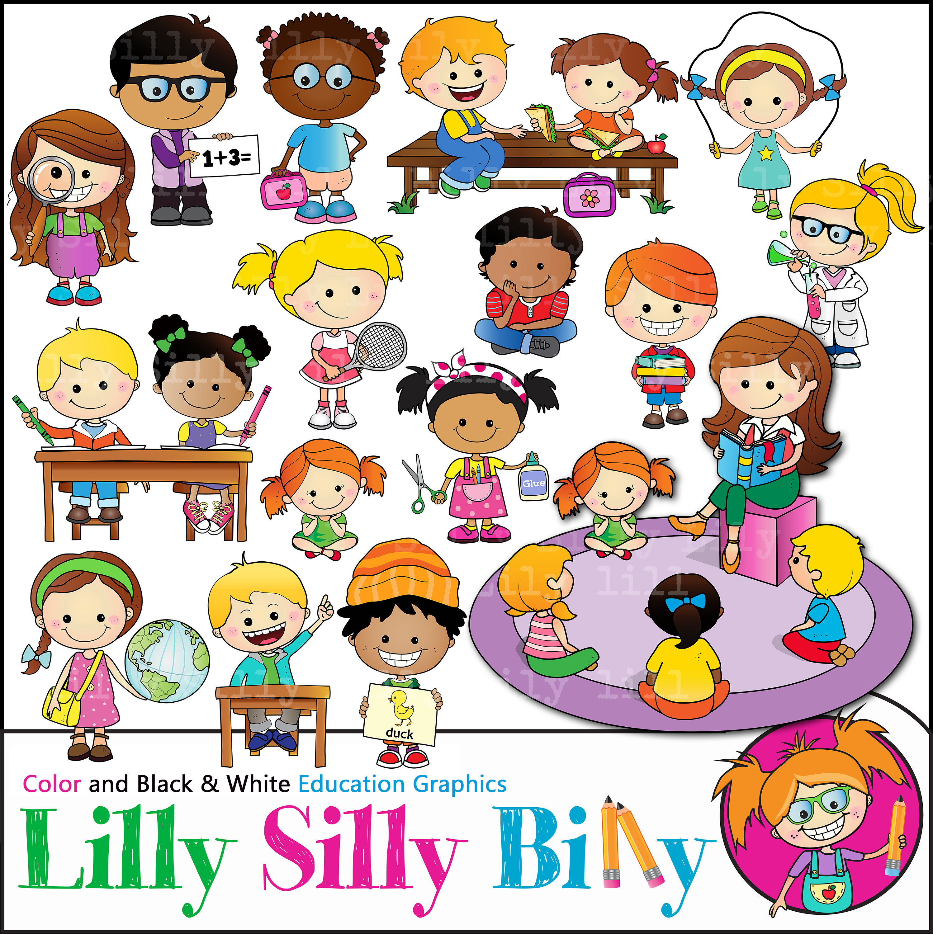 Geography clipart learning. School agenda depicting children