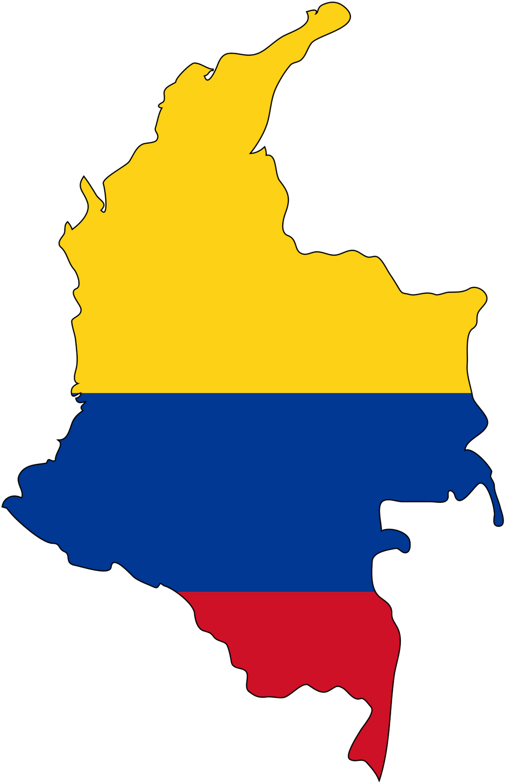 Colombia flag colors colombian. Geography clipart lost map