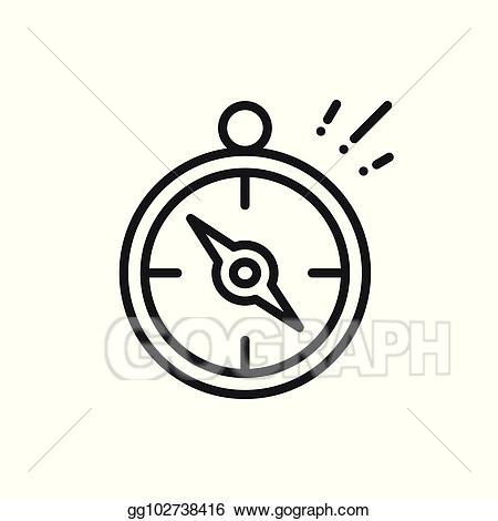 Clip art vector compass. Geography clipart orienteering
