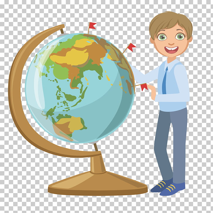 Globe teacher character png. Geography clipart study student
