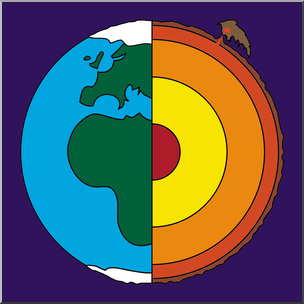 Clip art earth core. Geology clipart
