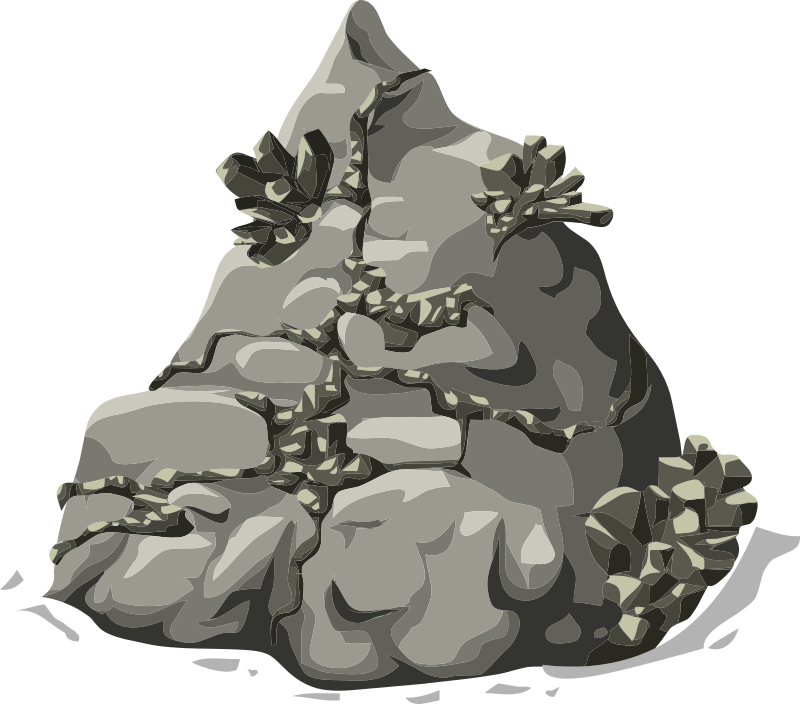 Harvestable resources rock metal. Geology clipart animation