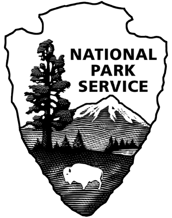 Logos national park service. Geology clipart black and white
