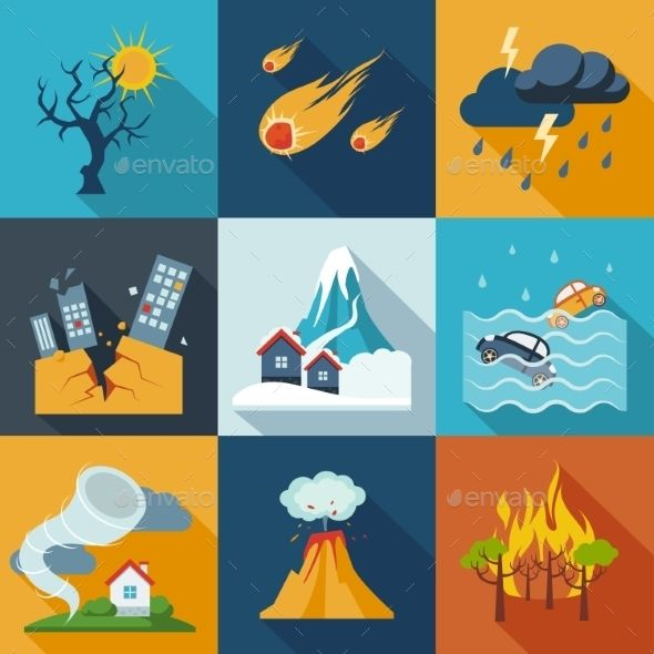 Geology clipart natural disaster. Icons typography project mood