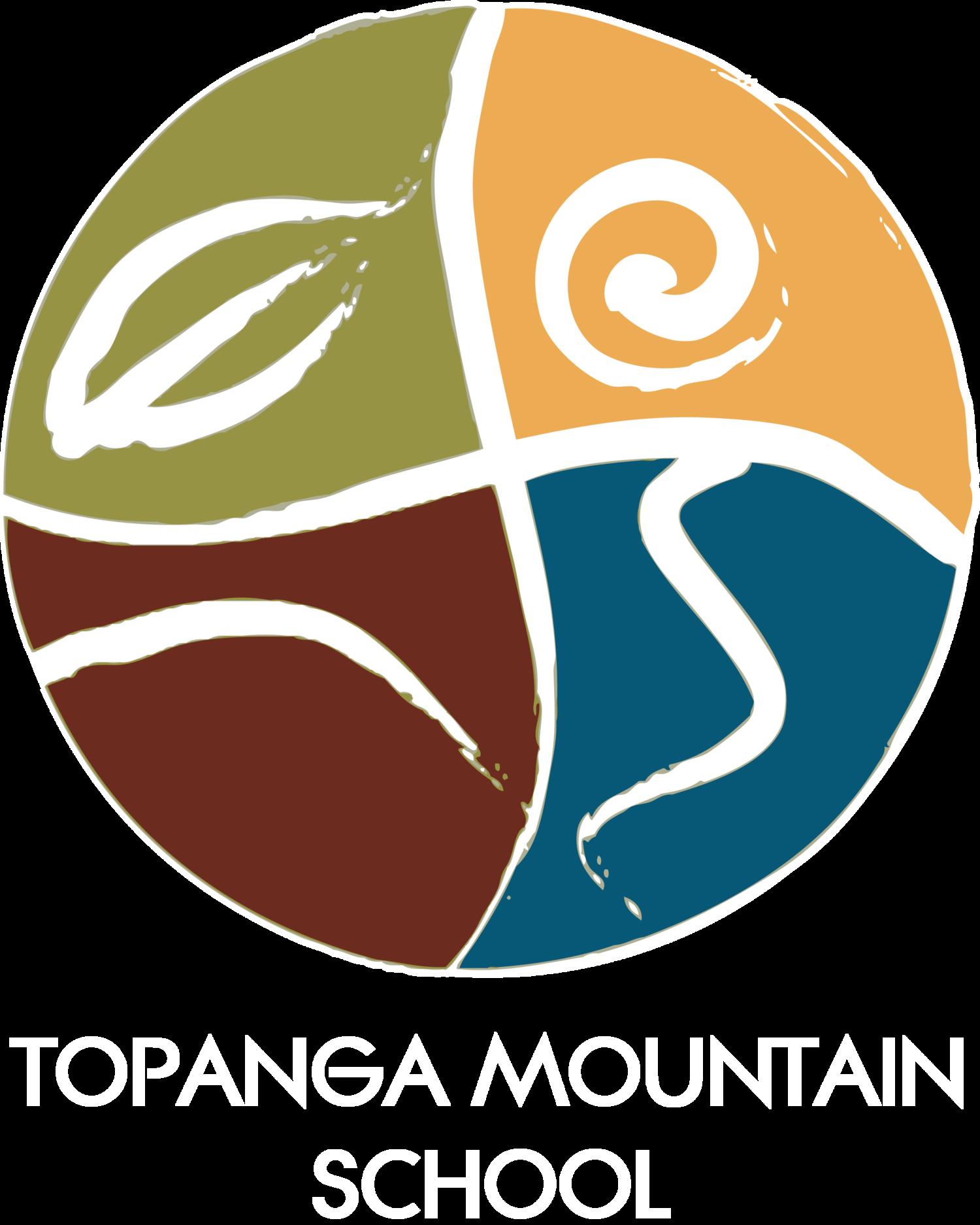 Topanga school . Woodland clipart mountain