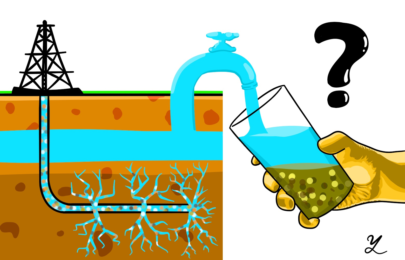Study links groundwater changes. Geology clipart studied