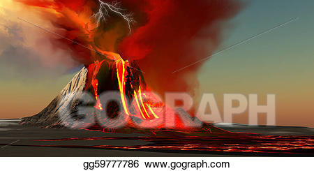 Drawing volcano gg gograph. Hawaii clipart volcanic island