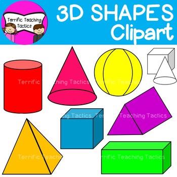 Geometry clipart 3d shape.  d shapes clip