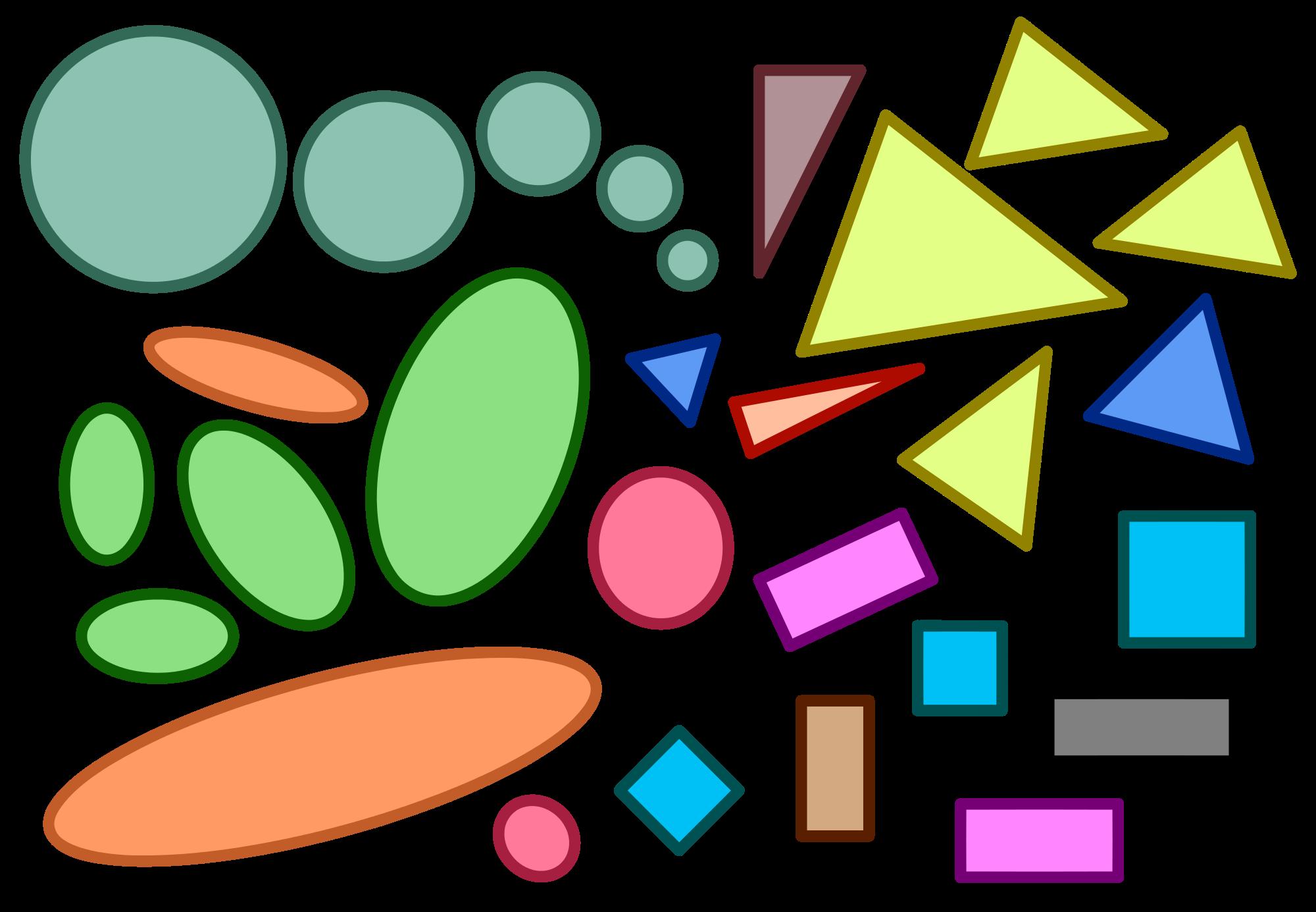 File similar geometric shapes. Geometry clipart color shape