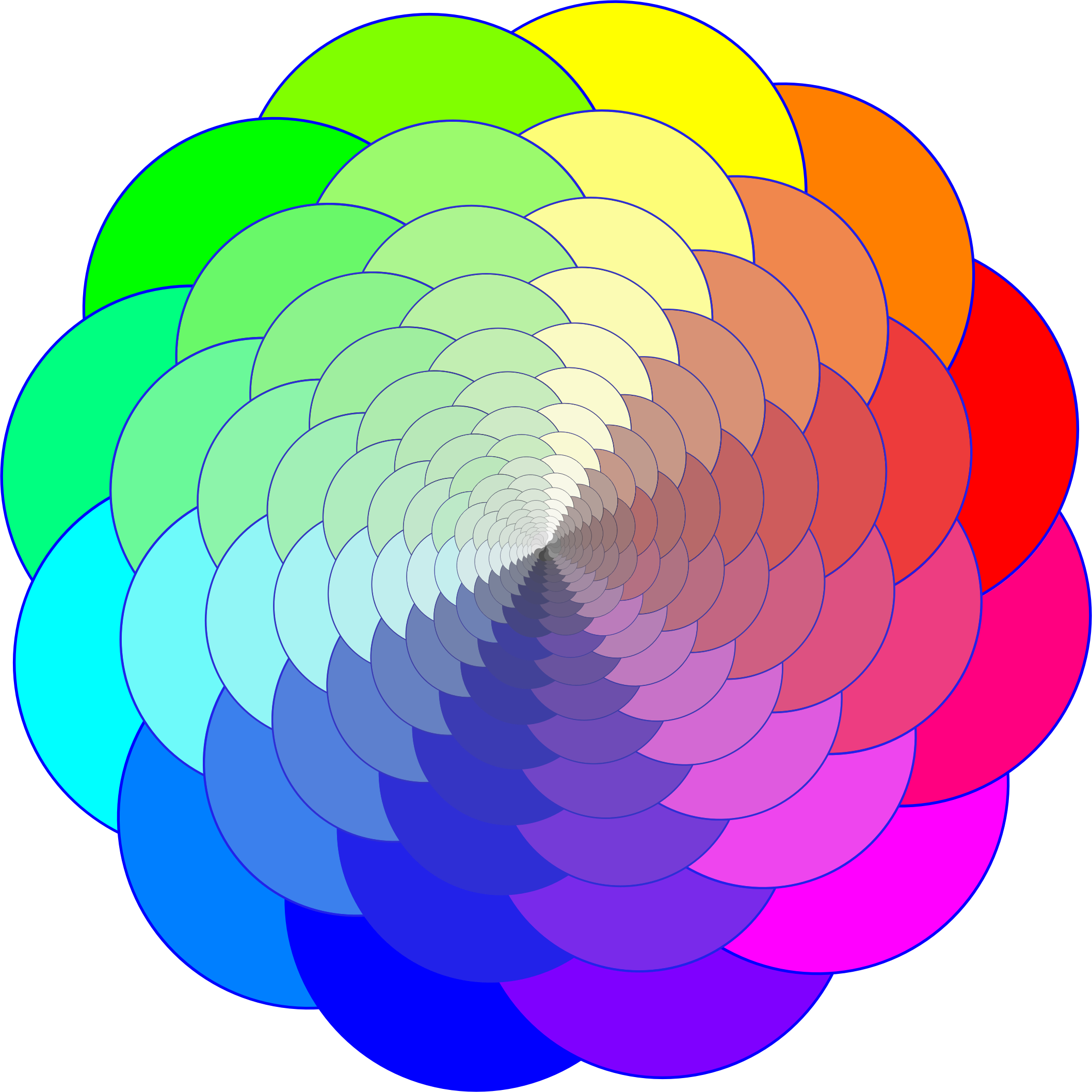 Geometry clipart color shape. Colorful geometric progression big