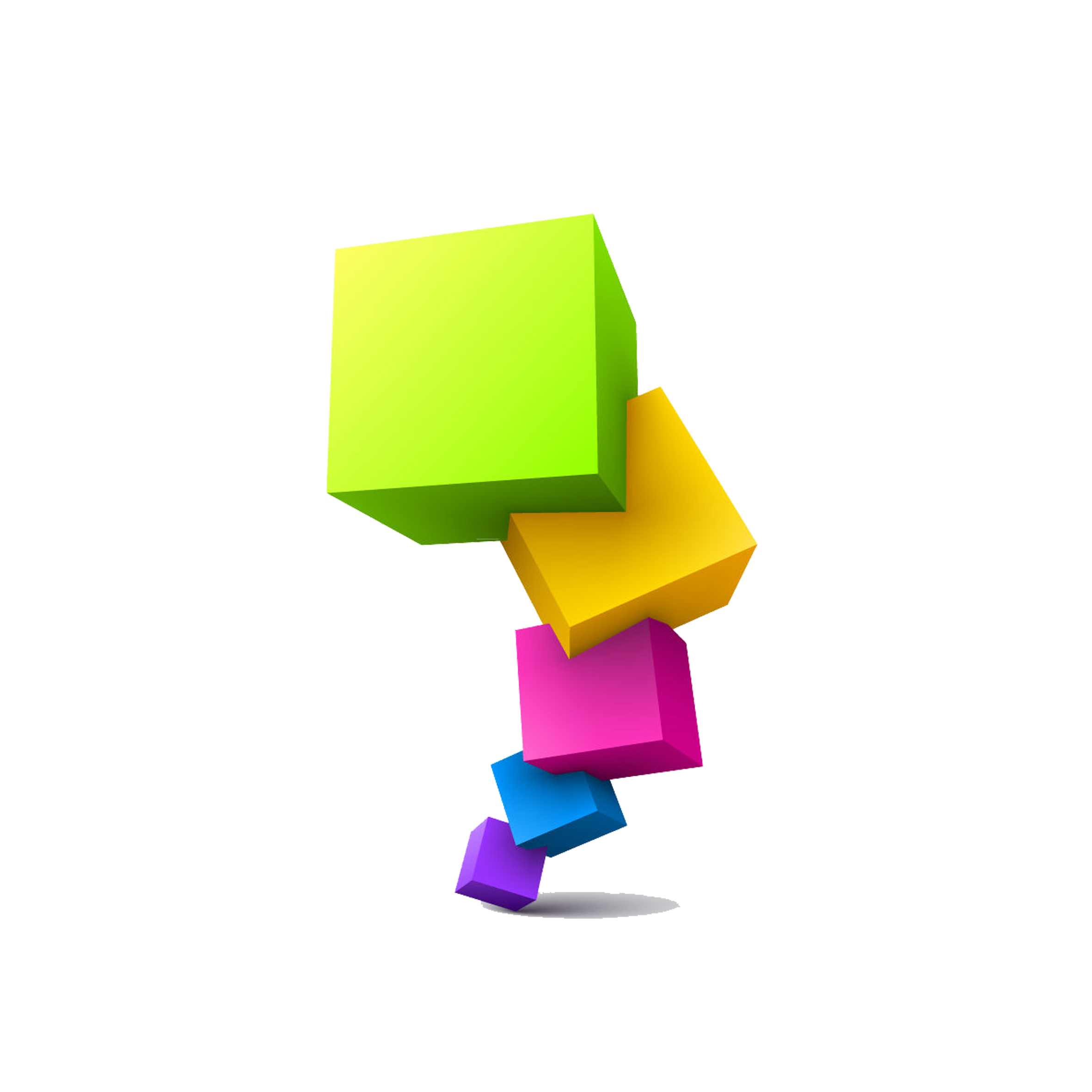 Geometry clipart color shape. Cube transprent png free