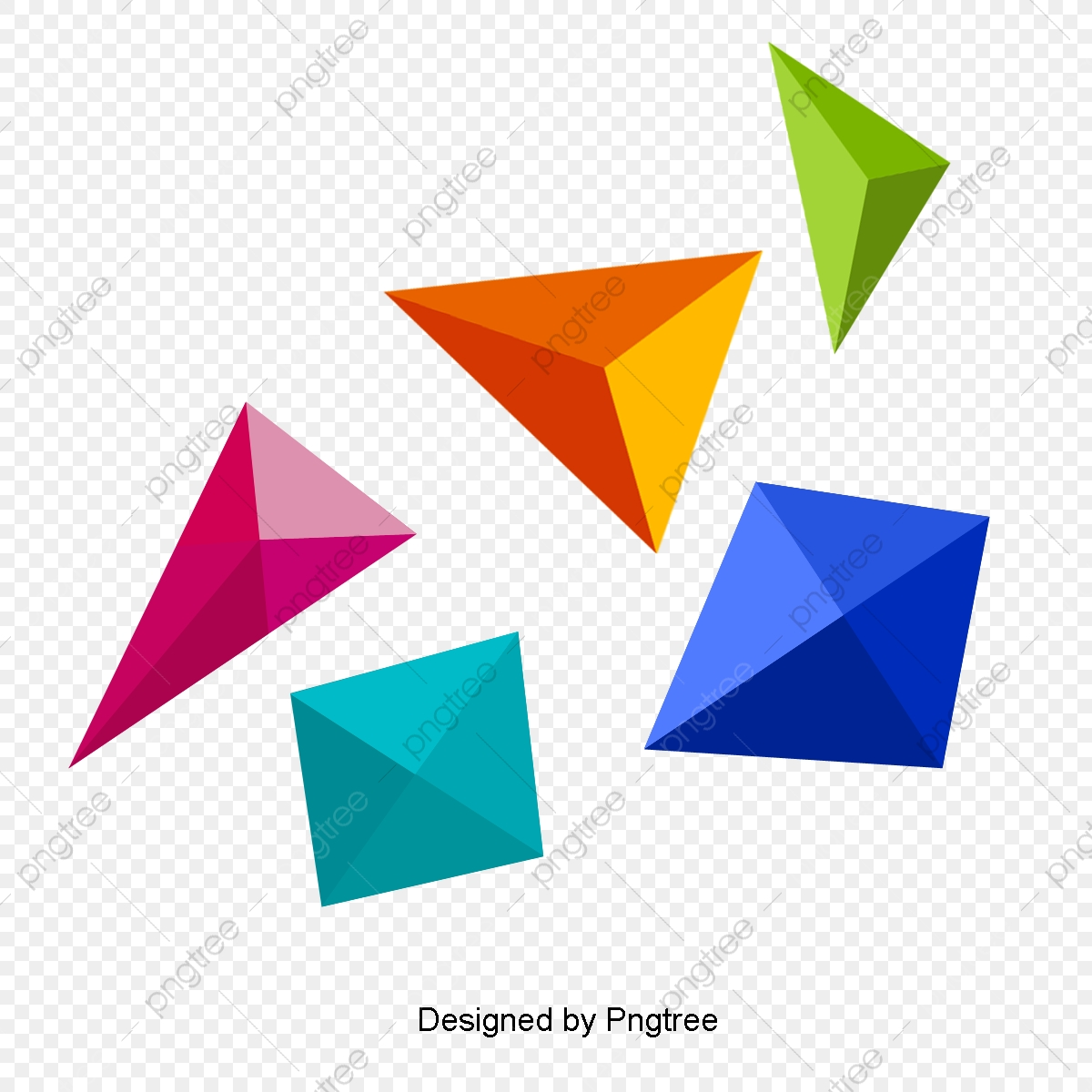 Geometry clipart colorful shape. Geometric pattern bright colors