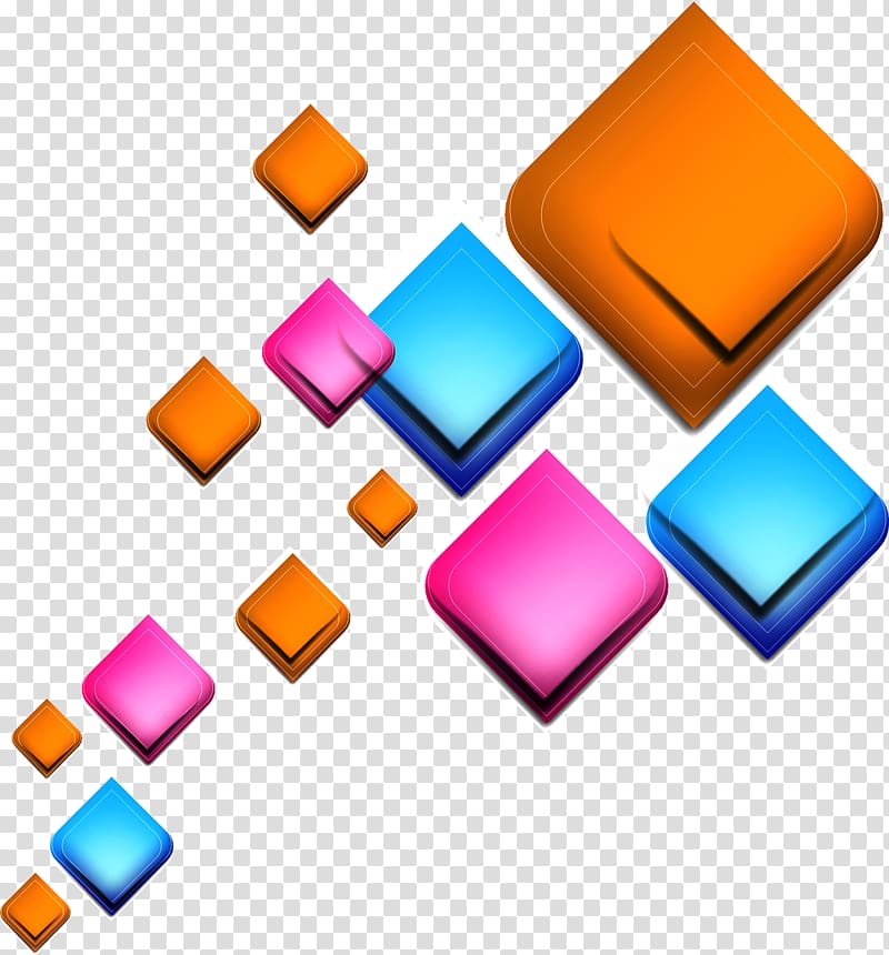 Geometry clipart colorful shape. Multicolored abstract light square
