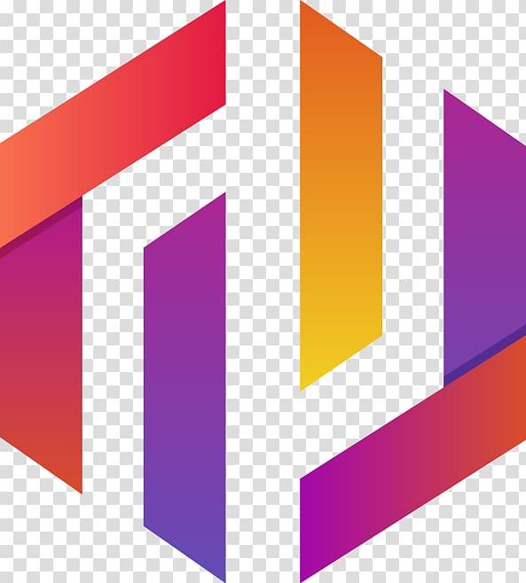 Multicolored logo geometric pattern. Geometry clipart colorful shape