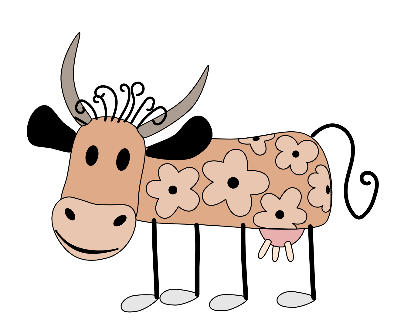 Geometry clipart cute. Cow panda free images