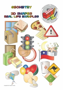 Geometry clipart different shape. D shapes real life