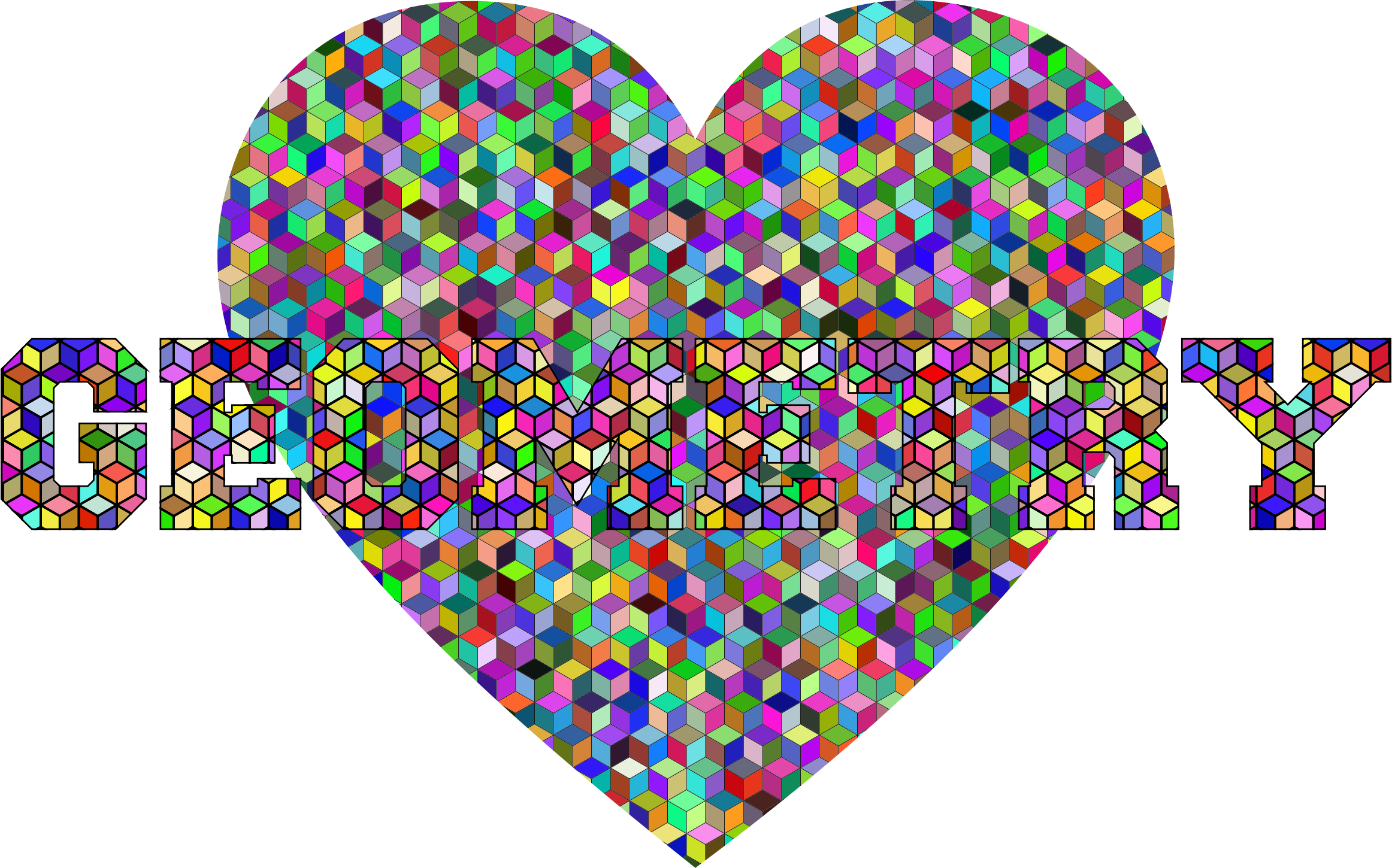 Geometry clipart icon. Heart typography icons png