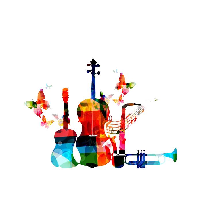 Music graphic design clip. Geometry clipart instrument