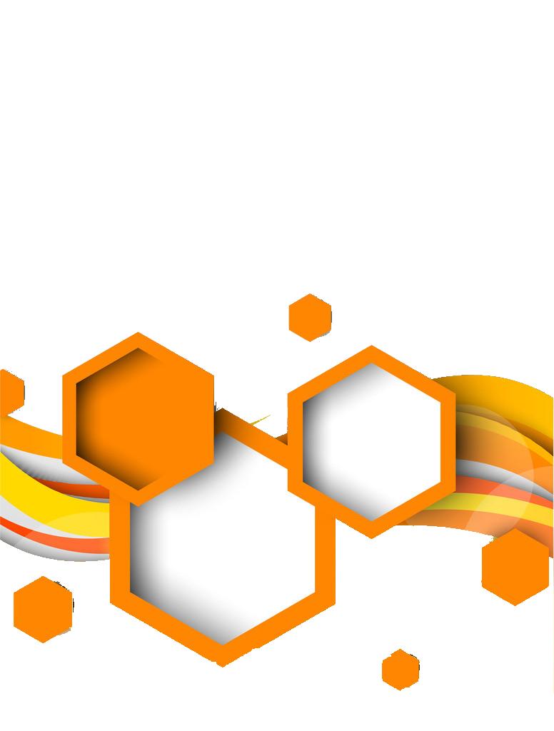 Hexagon geometric shape orange. Geometry clipart line angle