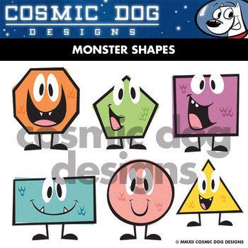 Geometric shapes clip art. Geometry clipart math lesson