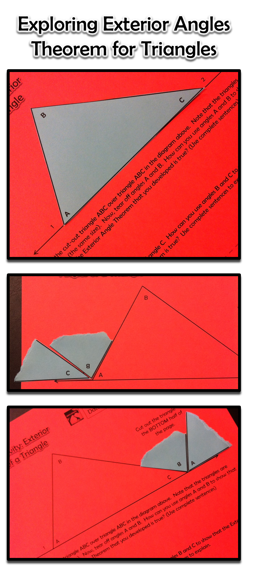 Exterior angles of a. Geometry clipart math protractor