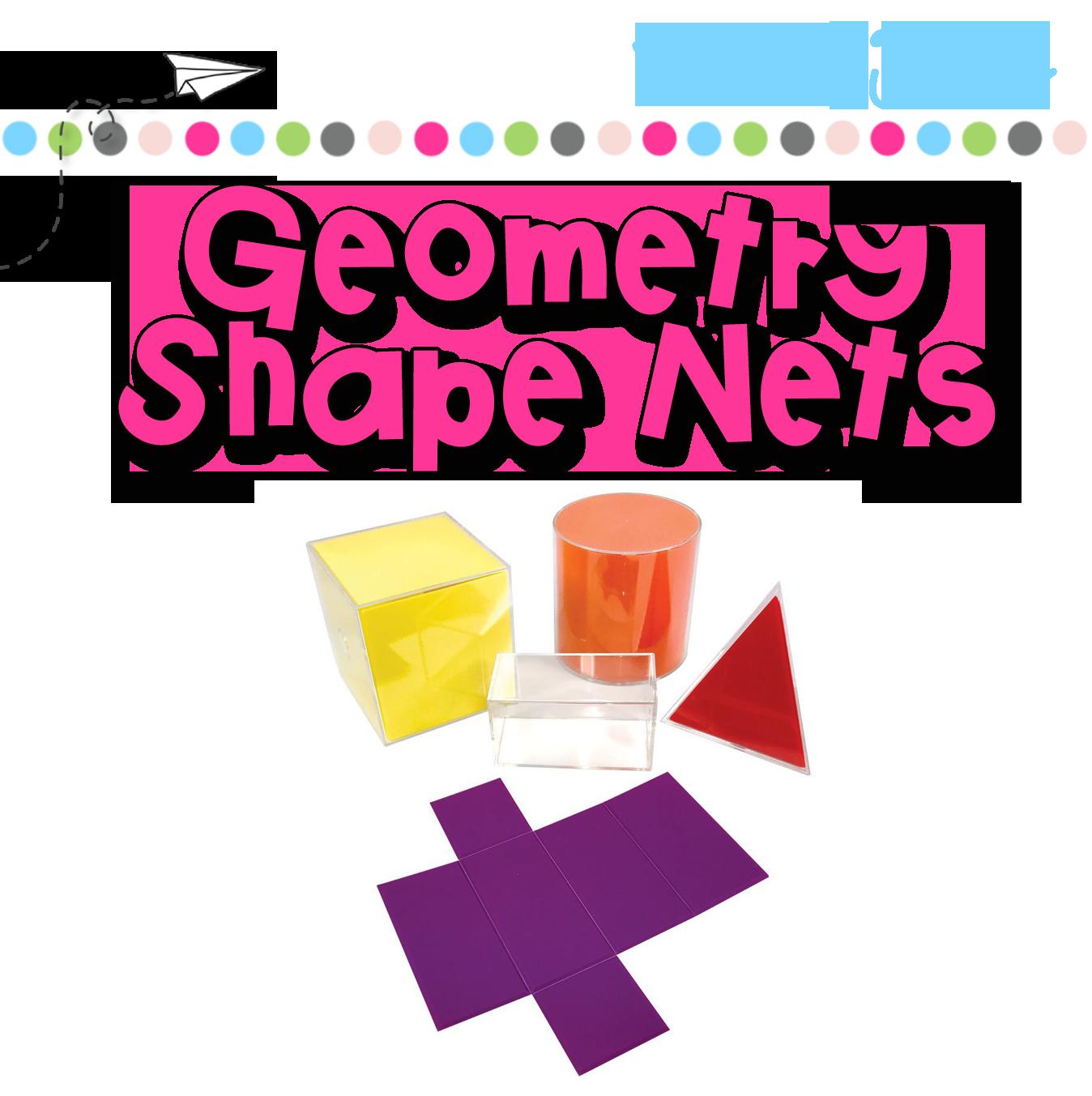 Shape nets simply skilled. Geometry clipart math skill