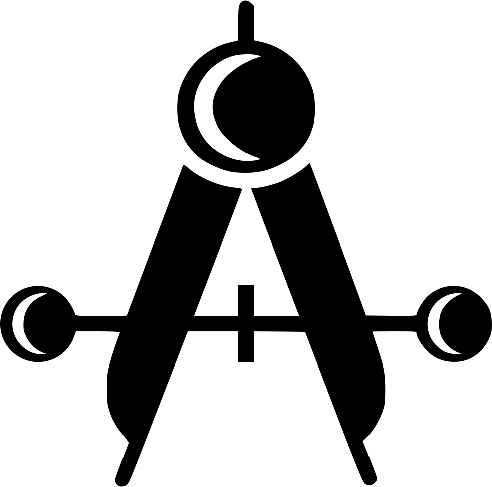 Compass measure drawing equipment. Geometry clipart measurement