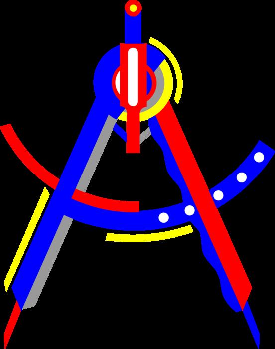 Geometry clipart measurement. Compass vector image illustration