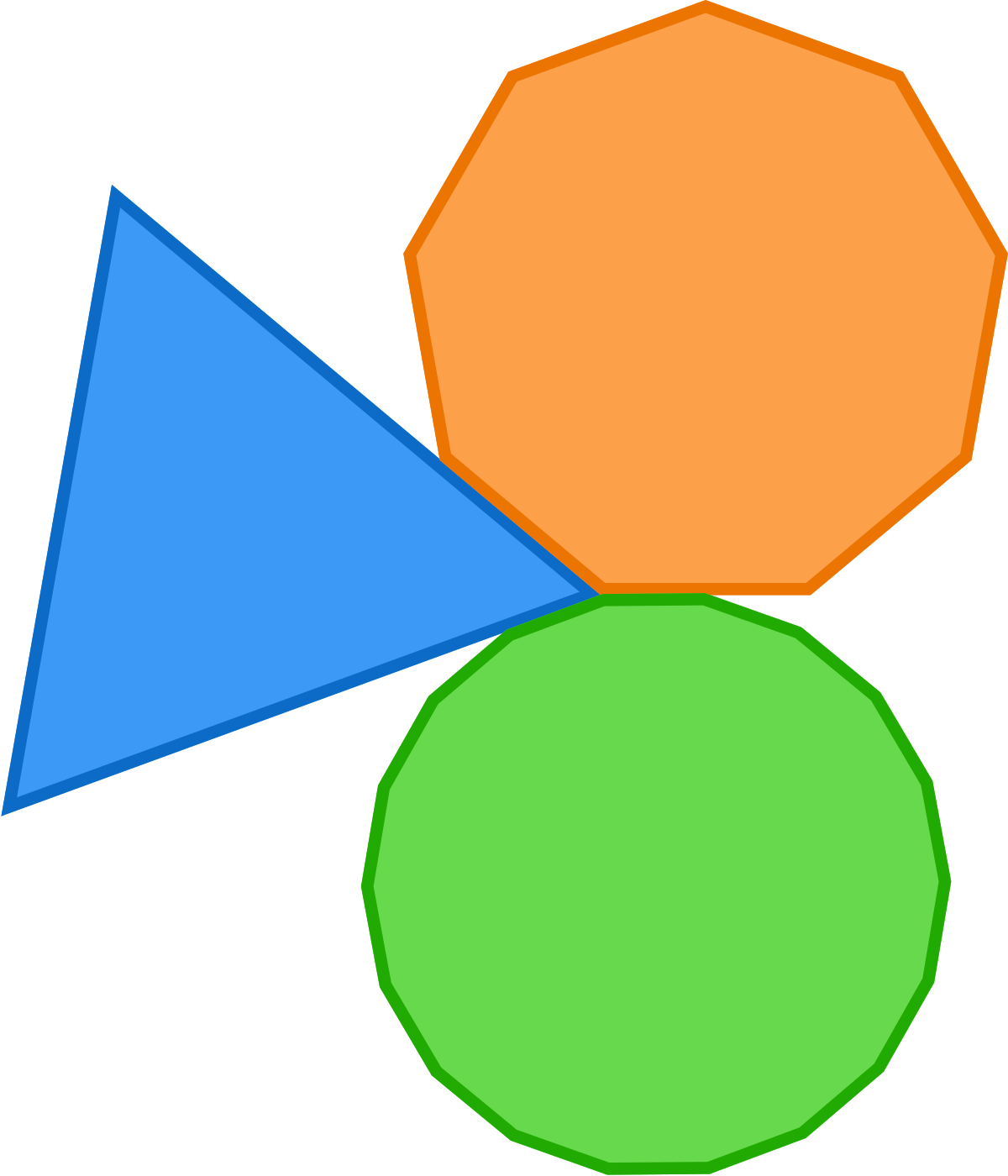 Geometry problem a triangle. One clipart single number