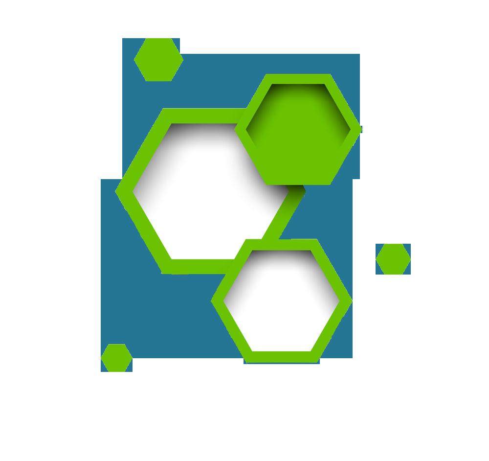 Hexagon border transprent png. Geometry clipart polygon