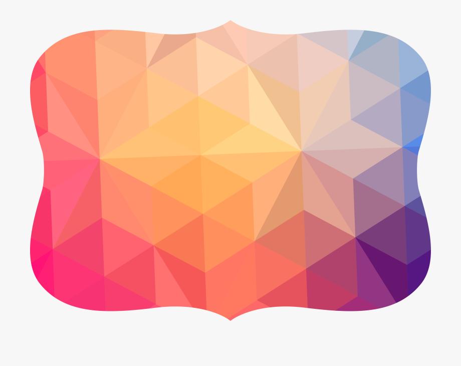 Shape design geometric borders. Geometry clipart polygon