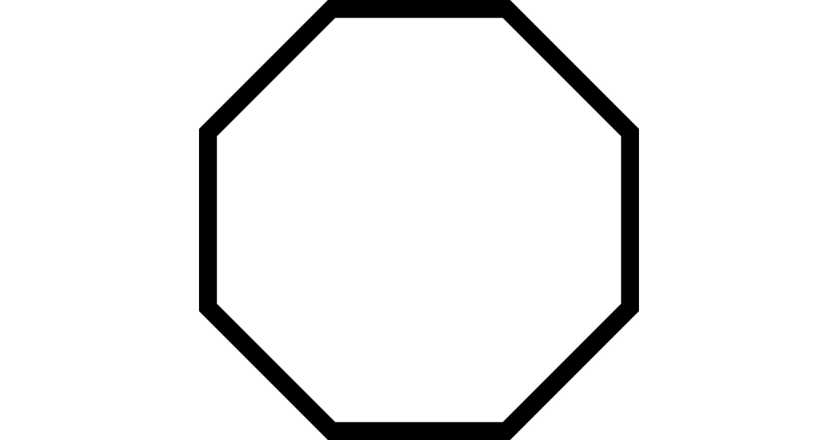 Octagon shape clip art. Geometry clipart polygon