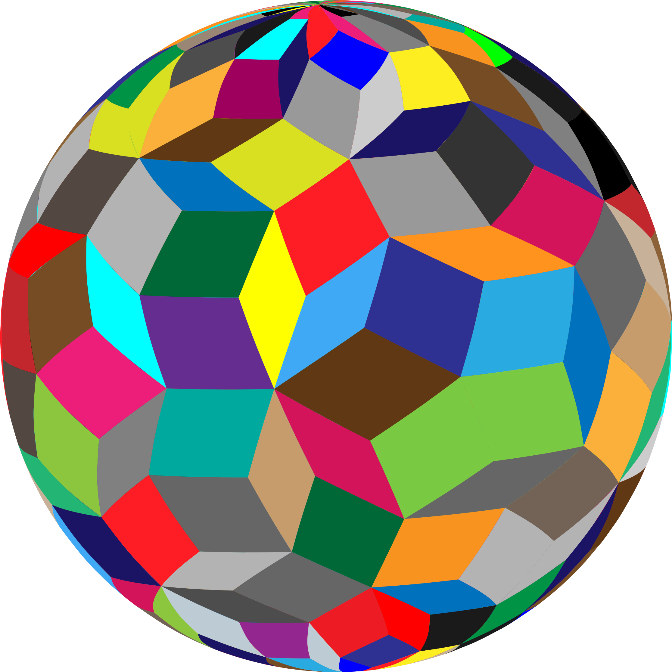 Colorful geometric sphere big. Geometry clipart transparent