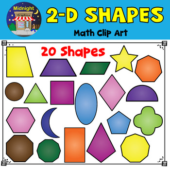 d shapes clip. Geometry clipart two dimensional