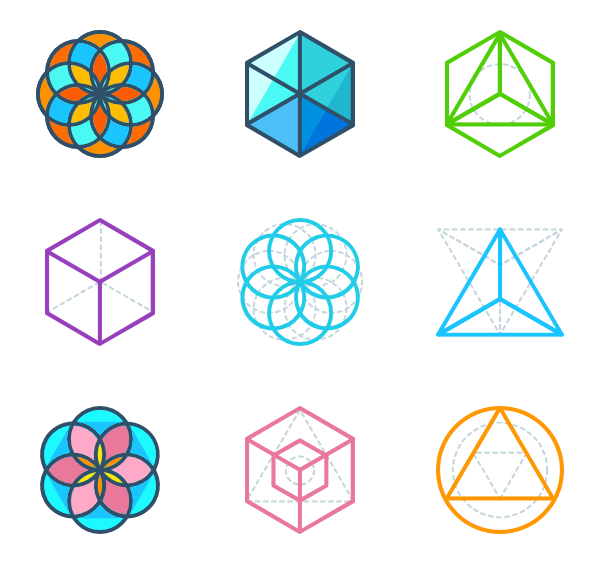 esoteric icon packs. Sacred geometry vector png